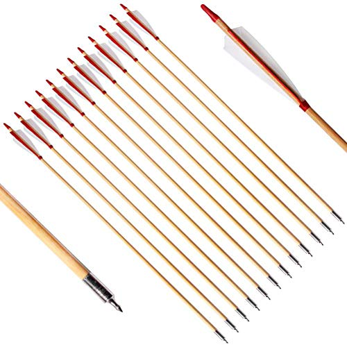 - PG1ARCHERY Wooden Arrows Traditional Target Hunting Practice Arrow 5