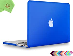 UESWILL Smooth Matte Hard Case Cover Compatible with (Mid 2012-Mid 2015) MacBook Pro 15 inch with Retina Display (No Touch Bar, No CD-ROM) (Model: A1398), Royal Blue