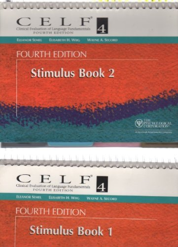 Books : CELF 4 Stimulus Book 2 - Clinical Evaluation of Language Fundamentals - Fourth Edition
