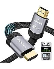 8K HDMI 2.1 kabel 2M, Sniokco Certified 48Gbps Ultra High Speed Gevlochten HDMI-kabel 6.6FT, Ondersteuning Dynamische HDR, eARC, Dolby Atmos, 8K60Hz, 4K120Hz, HDCP 2.2 2.3, compatibel met HD TV Monitor en meer