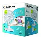 CCC Comfort Zone Desk Fan - Whisper Quiet, 2