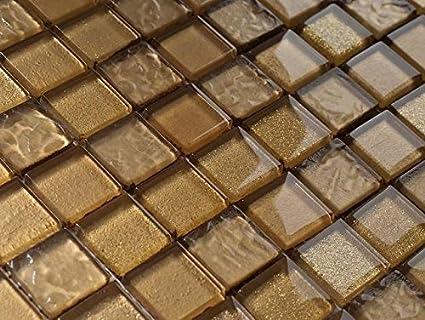 Lusso vetro mosaico oro reef piastrelle bagno cucina prodotto di