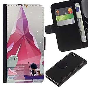All Phone Most Case / Oferta Especial Cáscara Funda de cuero Monedero Cubierta de proteccion Caso / Wallet Case for Apple Iphone 6 // Minimalist Pastel White