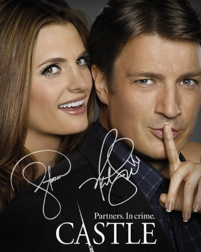 Castle TV series reprint signed cast photo Nathan Fillion Stana Katic #2 from Loa_Autographs