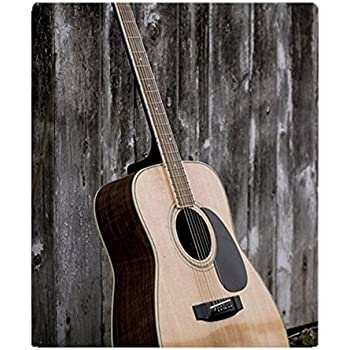 Amazon Com Guitar Fleece Throw Blanket 50 Quot X60 Quot Home