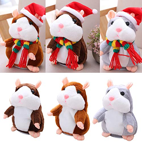 [Christmas Gift Toy]-Cute Talking Animal Hamster Plush Toy Record Repeat Stuffed Christmas Kids Doll,Arrive Before Christmas