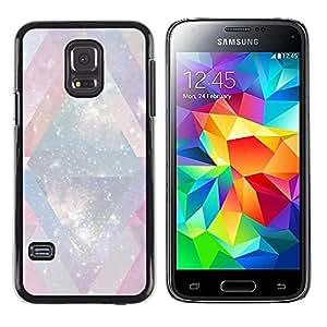 FECELL CITY // Duro Aluminio Pegatina PC Caso decorativo Funda Carcasa de Protección para Samsung Galaxy S5 Mini, SM-G800, NOT S5 REGULAR! // Winter Snow White Universe Chevron Pink