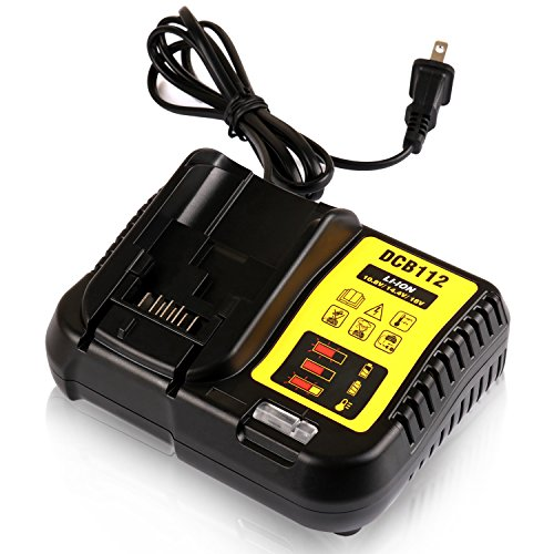 STZ Dewalt DCB112 12-Volt and 20-Volt MAX Lithium-Ion Battery Charger Replace DCB101 DCB105 DCB115 DCB107 - Use for DCB120 DCB127 DCB206 DCB205 DCB201 ()
