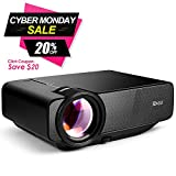 "RAGU Z400 Mini Projector, 2018 Upgraded (+85% Brightness) 180"" 1080P HD Home Movie"