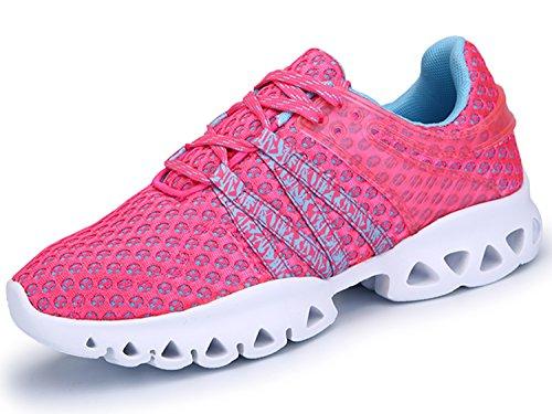IIIIS-R Zapatos Planos con Cordones Hombre Rosa