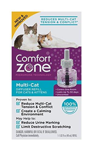Comfort Zone BASIC Multicat Diffuser Refill for Cat Calming, Single Refill
