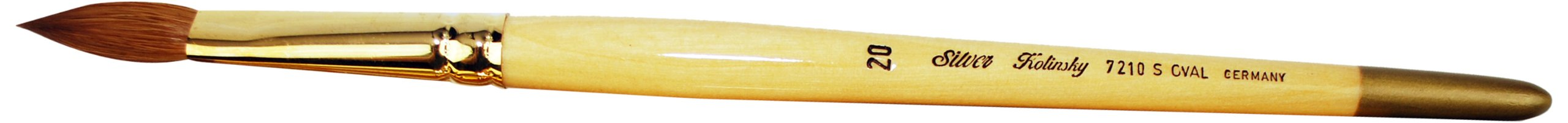 Silver Brush 7210S-20 Silver Kolinsky Sable Short Handle Excellent Quality Brush, Oval, Size 20