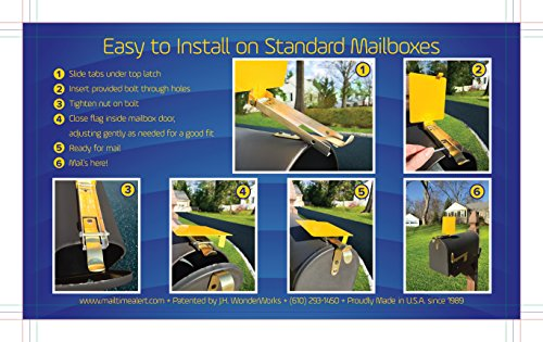 Mail Time 174 Yellow Mailbox Alert Signal Flag For Long