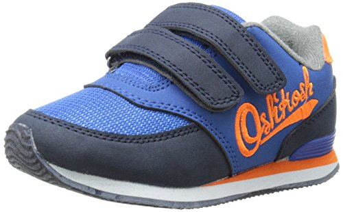 OshKosh B'Gosh Thunder4 Double Strap Athletic Sneaker (Toddler/Little Kid), Navy/Orange, 9 M US Toddler