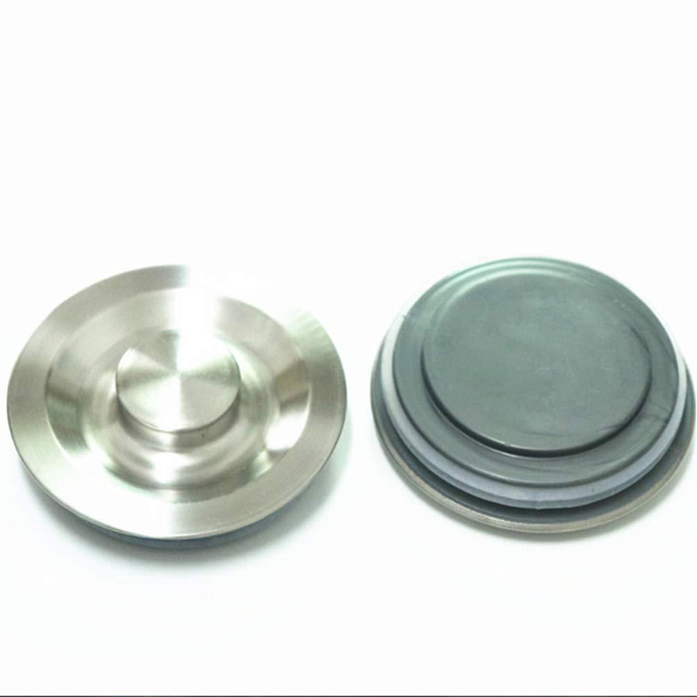 TOPBATHY 2pcs en acier inoxydable /évier poubelle bouchon /évier prise bouchon d/étanch/éit/é /à leau couverture d/échets broyeur /à nourriture accessoires