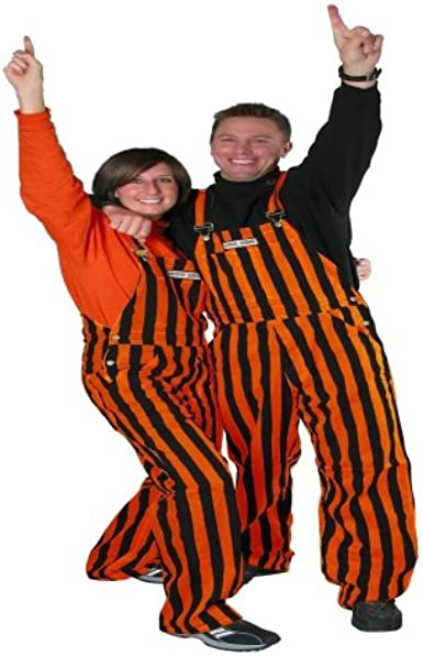 Game Bibs Black /& Yellow Adult Striped Game Day Overalls for Men and Women Sporting Event and Tailgating Attire