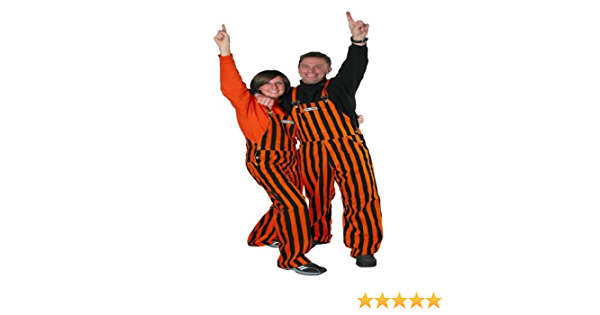 Game Bibs Purple /& White Adult Striped Game Day Overalls for Men and Women Sporting Event and Tailgating Attire