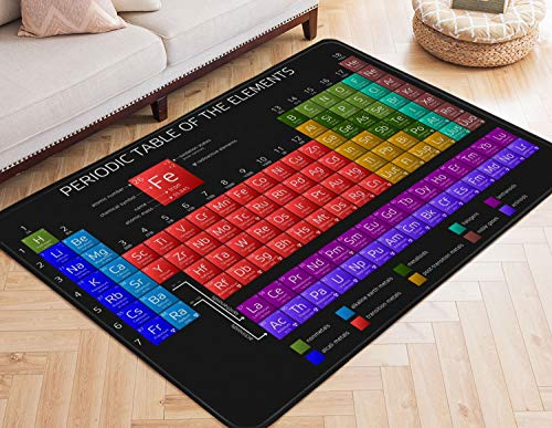 (Area Rugs Periodic Table of Elements Large Rug Mat for Living Room Bedroom Playing Room 7' x 5')