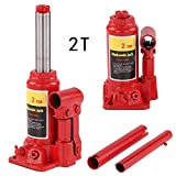 MultiWare Bottle Jack Heavy Duty Steel 2 Ton Lifting Stand For Small Or Large Vehicles