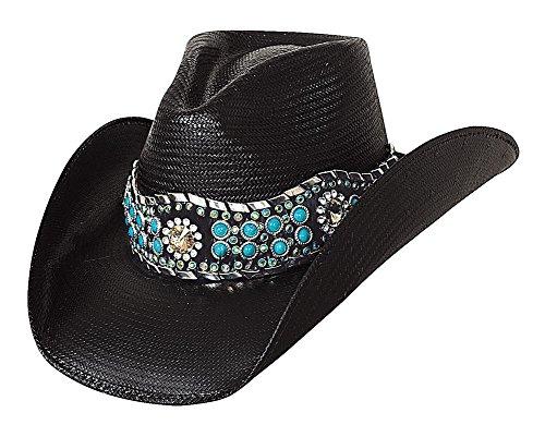Bullhide Montecarlo Own the Night Shantung Panama Western Hat Small ()
