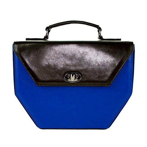 Gepherrini Designer Messenger Italian Genuine Leather Signature Tote Fancy Handbag for Women (Blue) by Gepherrini