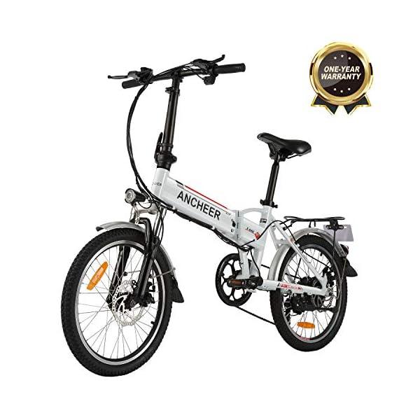 """BIKFUN Bicicletta Elettrica Pieghevole, Bici Elettriche 20"""", Motore 250W Batteria 36V 8Ah, Shimano a 7 velocità 1 spesavip"""