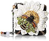Mary Frances Buzz Me Shoulder Handbag, Black/White, One Size