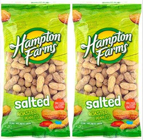 Salted Roasted Peanuts, 10-oz. Bags - 2 Packs; Hearty and healthy peanuts a good source of - Salted Peanuts Shell