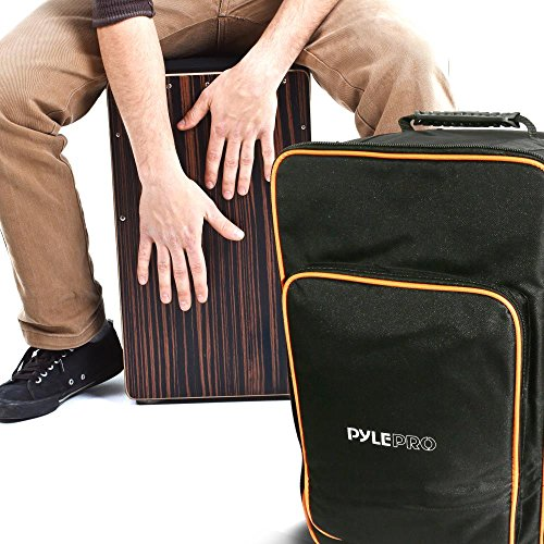 Pyle Cajon Bag Percussion Carrying Transport Travel Backpack Storage Case with Easy Grip Handle, Padded Adjustable Shoulder Straps and Front Pocket (PCJDBG18)