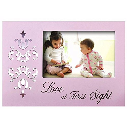 "Prinz 6 by 4-Inch Tender Touch ""Love"" Pink Wood Frame"
