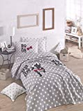 LaModaHome 3 Pcs Luxury Soft Colored Bedroom Bedding 100% Cotton Double Coverlet (Pique) Set Thin Summer/Soft Relaxed Comfortable Pattern Dog Animal Mottled/with Flat Sheet