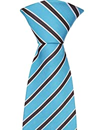 Notch Men's Necktie ARVID - Turquoise base with stripes in brown and white