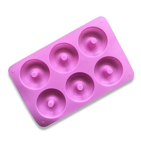 Juego de Moldes de silicona de 6 Hobbies Moldes Muffin 3D Donut para tortas, pasteles