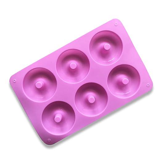 Juego de Moldes de silicona de 6 Hobbies Moldes Muffin 3D Donut ...