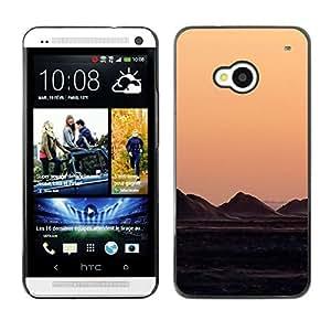 El blanco de la Tierra - Metal de aluminio y de plástico duro Caja del teléfono - Negro - HTC One M7