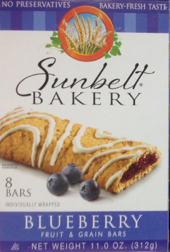 Sunbelt Bakery's BLUEBERRY Fruit & Grain Bars 8-Count (12 Boxes) by Sunbelt Bakery