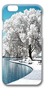 iphone 4s Case, Customized Slim Protective Hard 3D Case Cover for Apple iphone 4s- Frost Tree