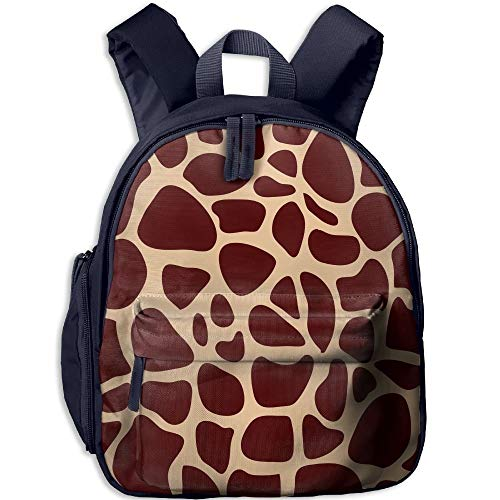 Giraffe Print Double Zipper Closure Waterproof Children Schoolbag Backpacks With Front Pockets For Youth Boys Girls