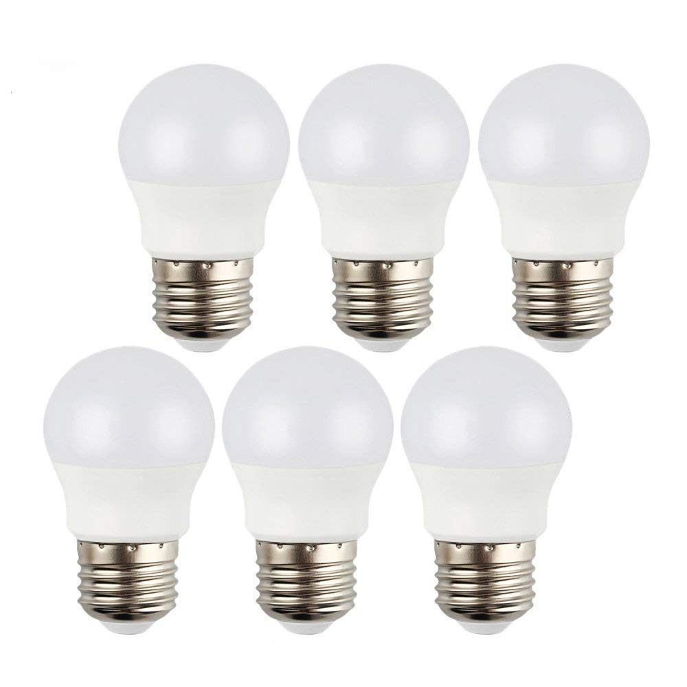 3W LED Light Bulbs,25W Incandescent Bulb Equivalent,240LM 2700K ( Soft White ),CRI 90+,E26 Medium Screw Base,A15 Bulb,for Home Lighting Decorative,Non Dimmable - 6 Pack