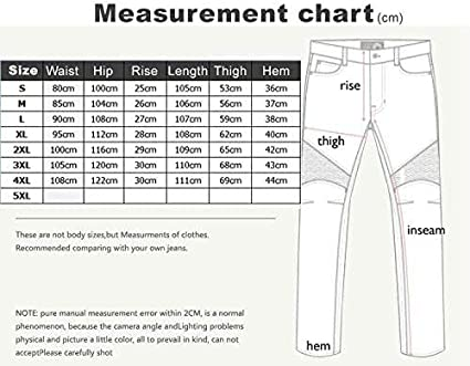 Mens Motorcycle Pants Motorbike Jeans biker Armor Trousers bicycle Riding Protective Pants Blue, M // 33W 4 x Protection pad