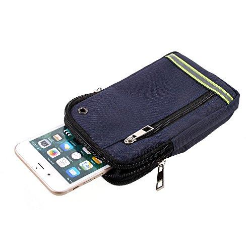 Cases Phone Krzr Cell (DFV mobile - Multipurpose Reflective Universal Belt Case with 3 Compartments for => Motorola KRZR K1 Phone > Blue (17.5 x 10 cm))