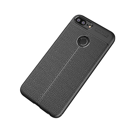 Soft Silicone Shockproof Case Back Cover Black for Huawei Honor 9 Lite 5.65