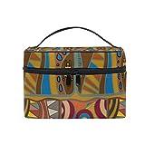 Cosmetic Case Bag Africa Art Culture Paisley Portable Travel Makeup Bag Toiletry Organizer
