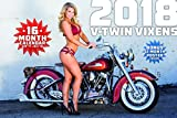 """This 2018 calendar shows beautiful pin up models paired up with real Harleys and amazing photographs. A big (17"""" x 28"""" when hung up) calendar that also features a large calendar grid, making it a breeze to keep track of your important dates. ..."""