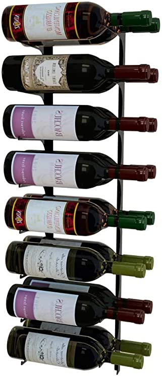 Revue 16 Bottle Wall Mounted Magnum Wine Rack Label Forward 4 Ft Double Deep Satin Black Modern Wine Storage Earthquake Resistant Home Kitchen Amazon Com