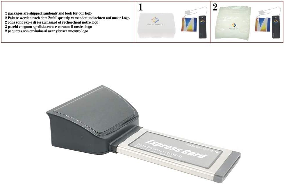 huicouldtool Laptop Expresscard to gibabit LAN Card Express Ethernet Network Card 34MM 1000m 24 in 1 Card Reader