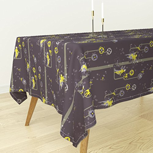 Roostery Tablecloth - Midsummer Midsummer Nights Dream Shakespeare Faerie Night S Dream Oberon by Thecalvarium - Cotton Sateen Tablecloth 70 x 120
