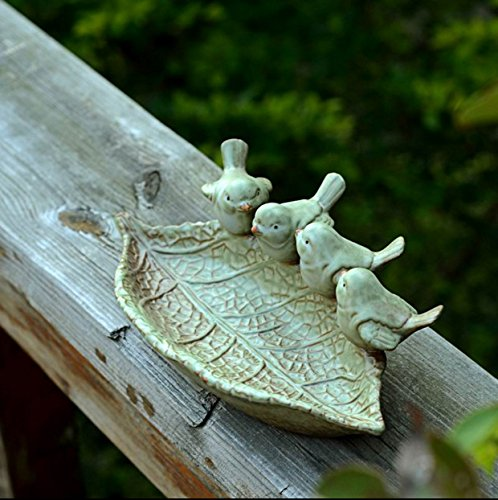 OLQMY Ceramic crafts, ceramic crafts, European ashtray, key jewelry storage disc, Home Furnishing decorative plate decoration,Birdie