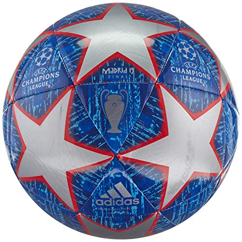 adidas Finale Glider Soccer Ball Silver Metallic/Bold Blue/Football Blue/Light Blue Bottom: Active Red S19, 3 (Best Soccer Websites To Shop)