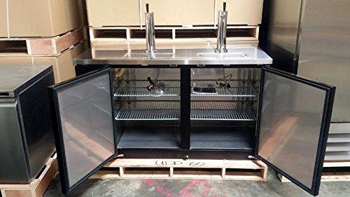 60'' Beer Keg Dispenser Kegerator Refrigerator w/ Stainless Top + 2 Taps!